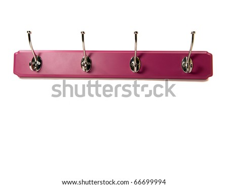 pink hook with copy space - stock photo