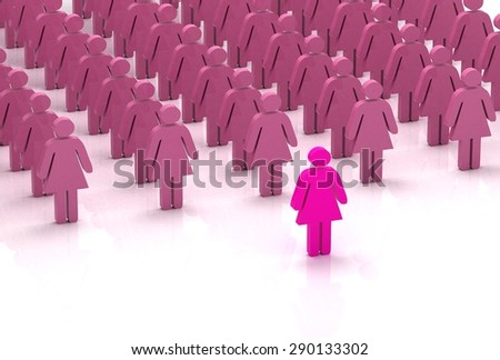 pink leadership - stock photo