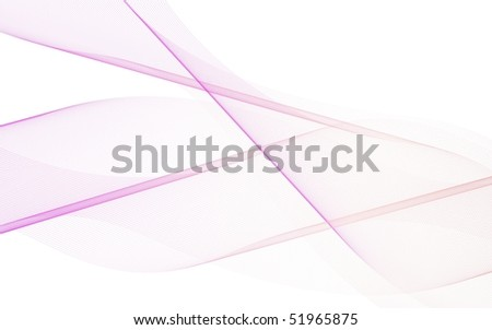 Pink lines isolated on white background