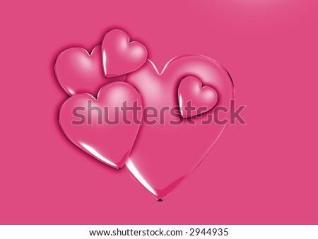 pink love - stock photo