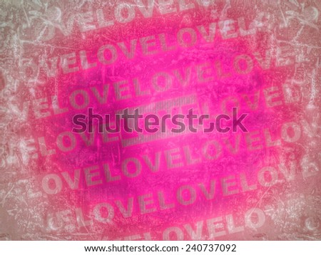 pink love background texture - stock photo