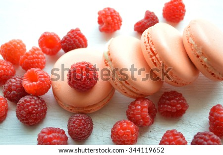 Pink macaroon - stock photo