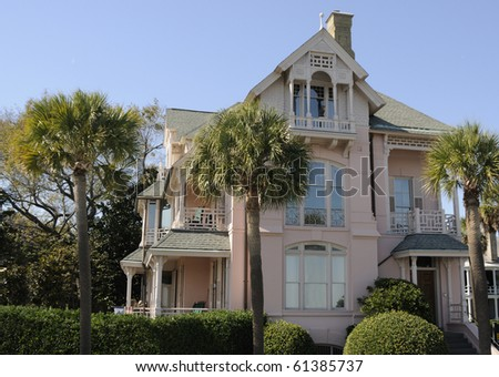 Pink Mansion in Charleston, South Carolina