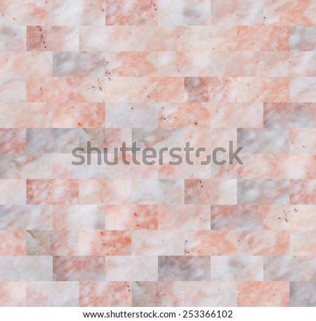 pink marble brick wall patterned texture background. - stock photo