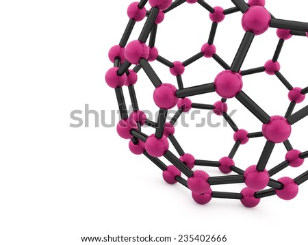 Pink molecular mesh tube structure rendered - stock photo