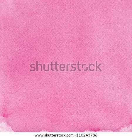 Pink natural handmade aquarelle painting texture, textured watercolor paper macro close up copy space background - stock photo