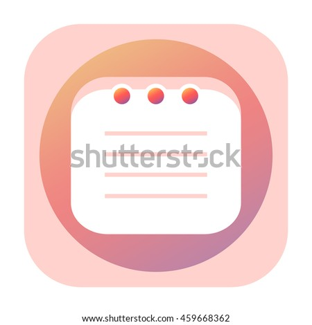 Pink notepad icon  - stock photo