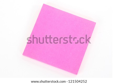 Pink notepad - isolated on white background