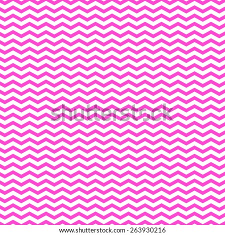 Pink on White Chevron Pattern Chevrons Texture Zig Zag Background - stock photo