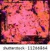 Pink orange purple black red grunge background - stock photo