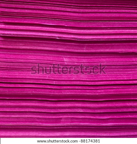 pink paper stack - stock photo