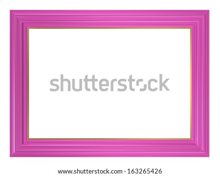 Pink picture frame. Computer generated 3D photo rendering. - stock photo