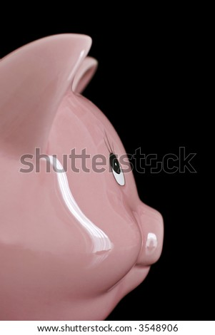 pink pig money box, ready for savings