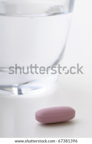 pink pill - stock photo