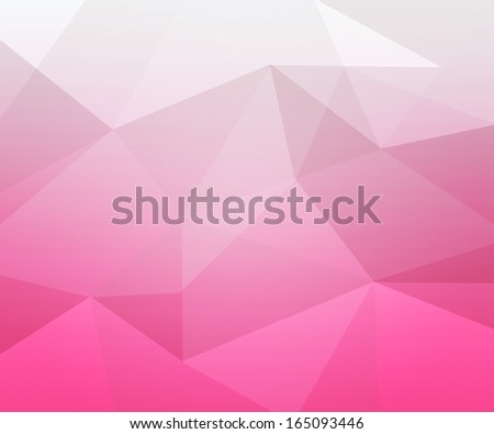 Pink Polygon Texture - stock photo
