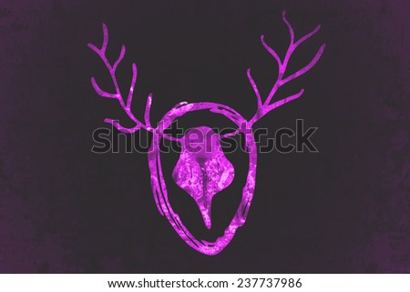 pink purple deer antler background - stock photo