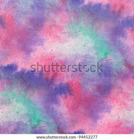 Pink & Purple Seamless Watercolor - stock photo