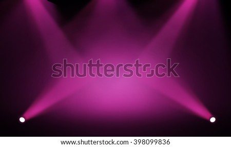 Pink&Purple stage background - stock photo