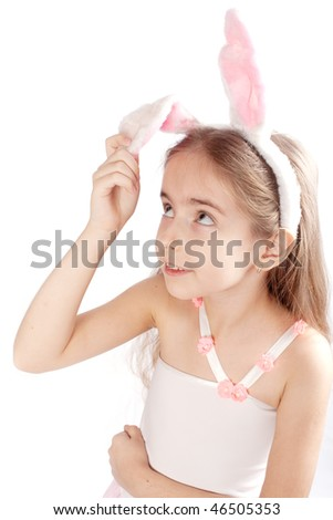 Pink rabbit-girl
