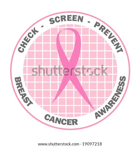 Pink ribbon design for Breast Cancer Awareness - stock photo