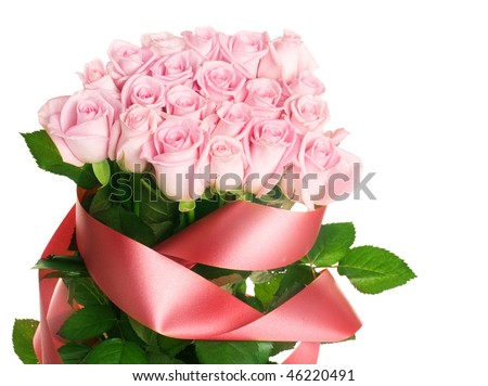 Pink Rose Bunch - stock photo