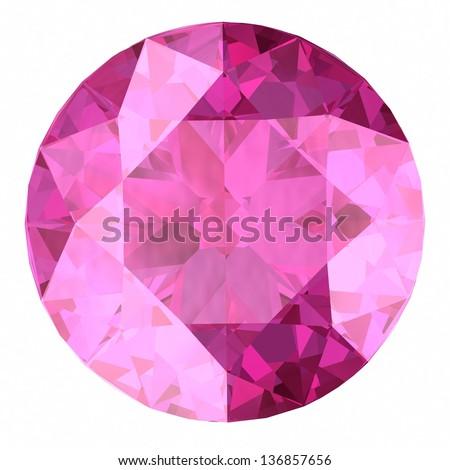 Pink sapphire. - stock photo