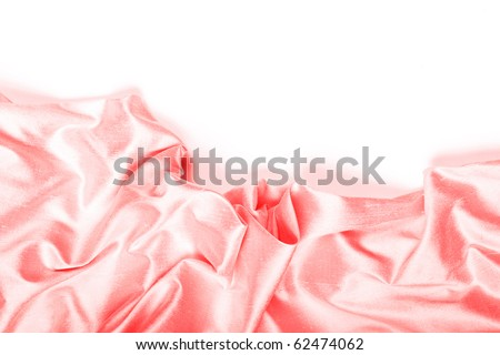Pink silk background. - stock photo