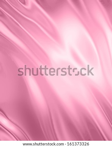 pink silk or satin with some smooth folds in it - stock photo