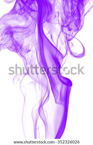Pink smoke abstract on white background - stock photo
