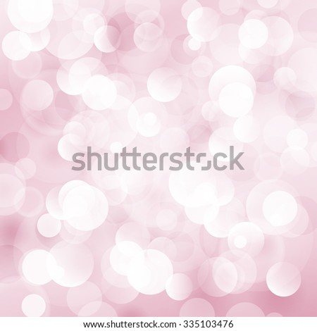 Pink Soft  Bright Abstract Bokeh Background , Soft Glow of the Sun , Defocused Lights - stock photo