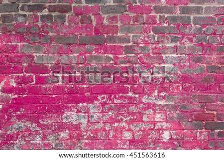 pink speckled brick wall