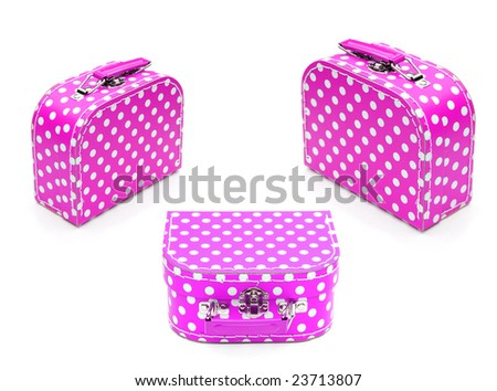 Pink spotty cases - stock photo