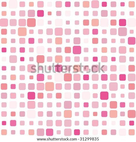 Pink square mosaic background - stock photo