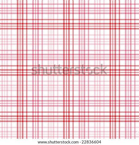 Pink Stripe Plaid - stock photo