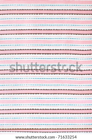 Pink stripes, fabric - stock photo