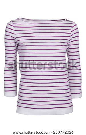 pink stripped boat-neck shirt