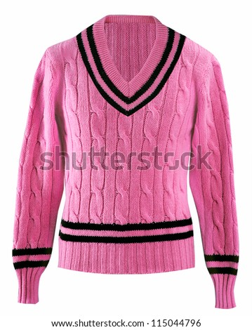 pink sweater - stock photo