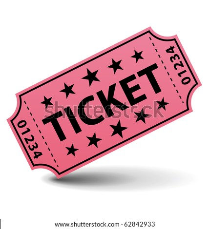 Pink ticket.. - stock photo
