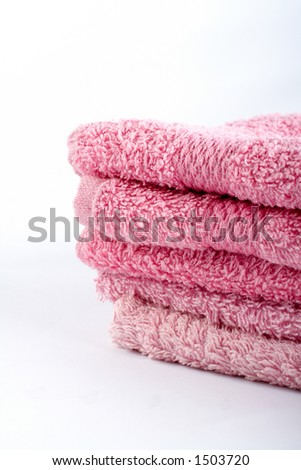 Pink towels - stock photo