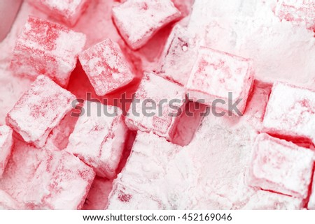 Pink Turkish Delight background