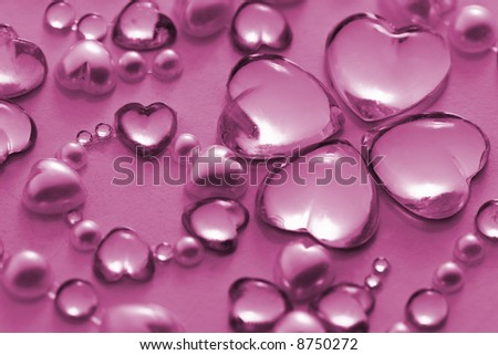 pink valentine ornament decoration - stock photo