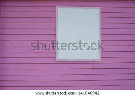 pink wall - stock photo