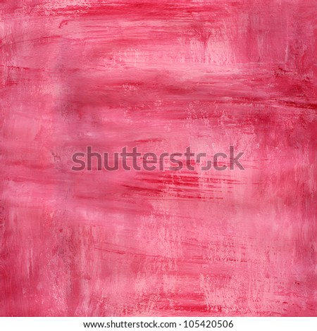 Pink Water Color Paint Paper Texture Background Scrapbooking - stock photo