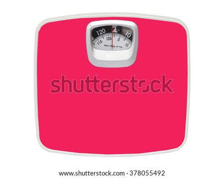 Pink Weight Scale