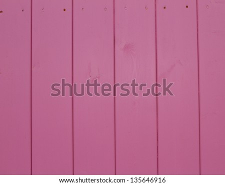 pink wooden vertical plank background texture - stock photo