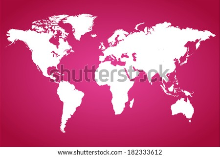 Pink World Map Illustration. (EPS vector version also available in portfolio) - stock photo