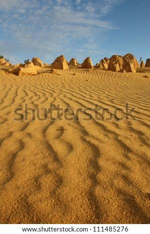 Pinnacle Desert, Nambung National Park, Western Australia - stock photo