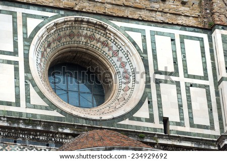 Pinnacle of the dome of Santa Maria del Fiore, Florence, Italy - stock photo