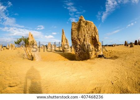 pinnacles public park australia view landscape panorama - stock photo