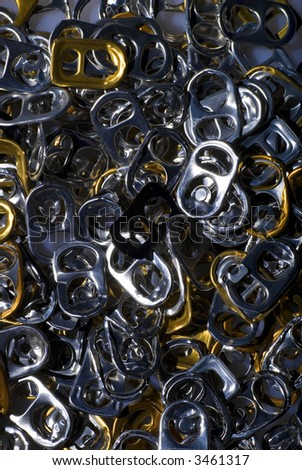 pins from empty cans - stock photo